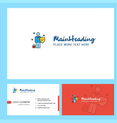employee logo design with tagline front and back vector image