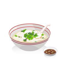 Fish porridge vector