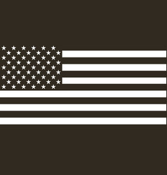 flag american black and white in flat design vector image