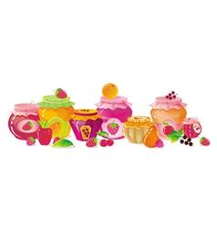 Fruit Jams vector image