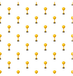 Golden soccer trophy cup pattern vector