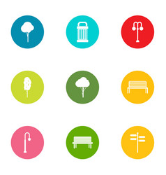 Grove icons set flat style vector