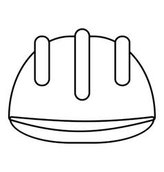 Helmet oilman icon outline style vector