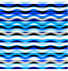 Horizontal blue strips pattern in a patchwork vector