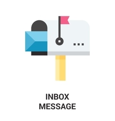 inbox message icon vector image