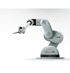 Industrial machine robotic hand arm machinery vector