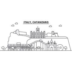 Italy catanzaro architecture line skyline vector
