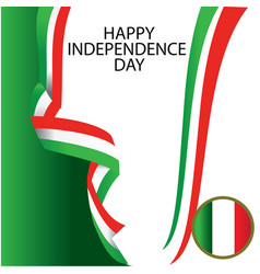 italy independence day template design vector image