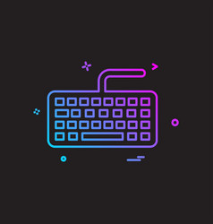 key board icon design vector image