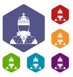 King icons set vector