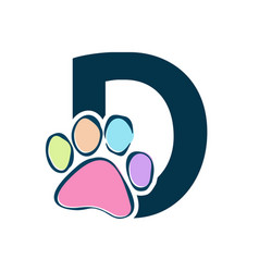 Letter paws d vector