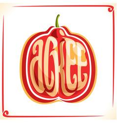 Logo for ackee fruit vector
