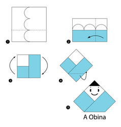 make origami a japanese doll vector image