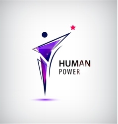 Man logo human body vector