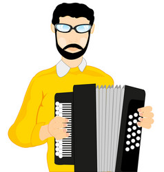 Man with accordeon vector