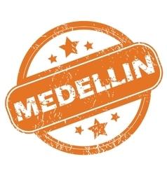 Medellin round stamp vector