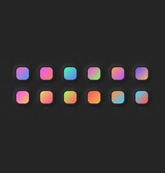 Modern vivid color gradients set for ui design vector