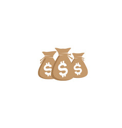 money bags growth chart investment currency vector image