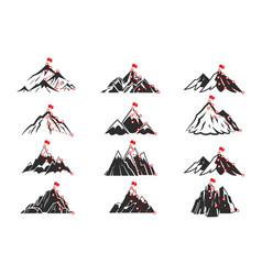 mountain path sketch route to mountain peak vector image