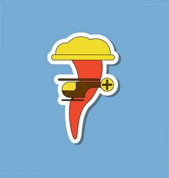 Paper sticker on stylish background tornado vector