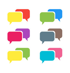 pictograph of message or chat message vector image