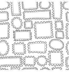 Post stamp collection seamless pattern for your vector