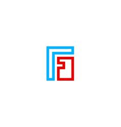 puzzle letter f logo icon design vector image