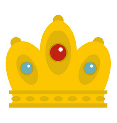 queen crown icon isolated vector image
