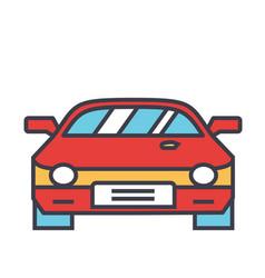 Race car racing concept line icon vector