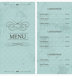 Restaurant or cafe menu design template vintage vector image
