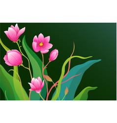 romantic gentle flowers background design vector image