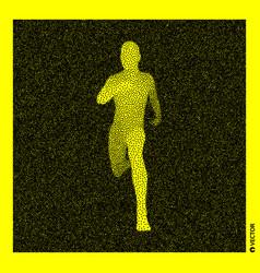 running man 3d human body model black and yellow vector image