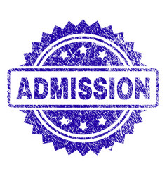 Scratched admission stamp seal vector