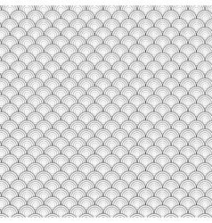 Seamless Circle Black and White Sea Shell vector image