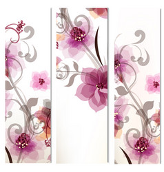set corporate floral identity templates vector image