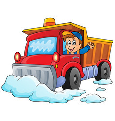 Snow plough theme image 1 vector