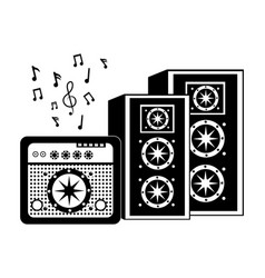 Speaker box with amplifier vector