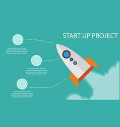 Start up project business infographic vector