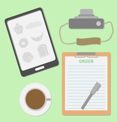 Take the order in coffee shop vector