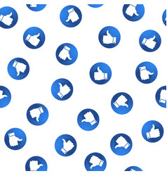 the like buttons seamless pattern vector image
