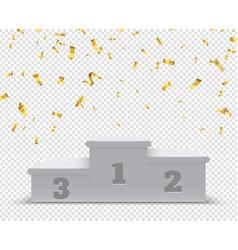 Winner podium sport winners pedestal 3d steps vector