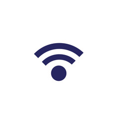 wireless logo template vector image