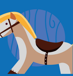 wooden horse icon vector image
