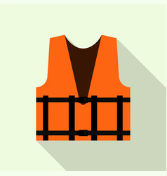 work orange reflective vest icon flat style vector image
