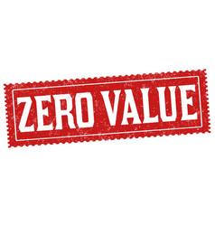 Zero value grunge rubber stamp vector
