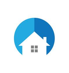circle house logo image vector image