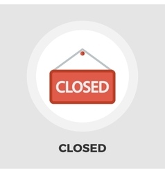 Closed flat icon vector image