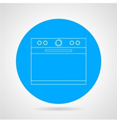 Flat line icon for kitchen stove vector image