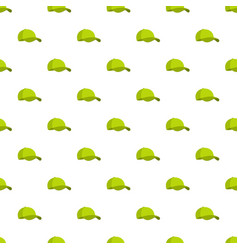 Green baseball cap pattern seamless vector