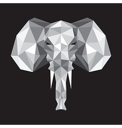 abstract origami elephant vector image vector image